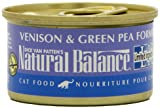 Natural Balance Canned Cat Food, Limited Ingredient Venison and Green Pea Recipe, 24 x 3 Ounce Pack