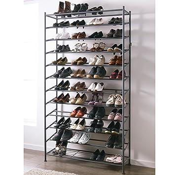 schuhregal aus metall schwarz ca b105 x t37 x h192 cm db678. Black Bedroom Furniture Sets. Home Design Ideas