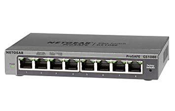 Netgear GS108E-100PES Switch Configurable 8 Ports Gigabit, Prosafe Plus
