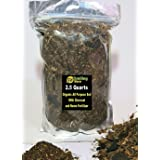 Smiling Worm (F4) - 2.5 QUARTS - Organic Potting Soil, Potting Compost Mix in Resealable Bag > Saintpaulia African Violet Pot Plant, 4 Ingredients with Charcoal + A Bag of Neem Organic Fertilizer.