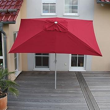 rostfrei rot neigbar Alu Sonnenschirm Gartenschirm N19 300cm