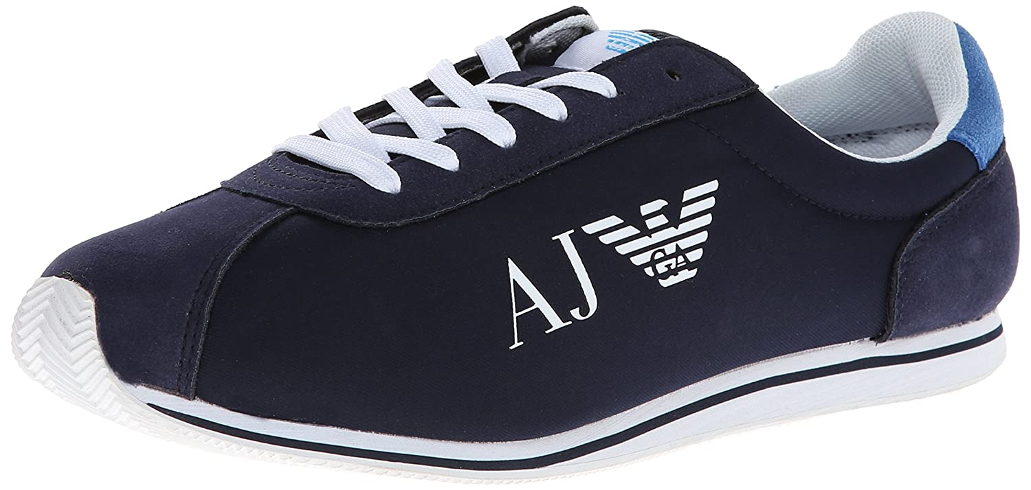 Armani Jeans Men's Nylon and Leather Fashion Sneaker