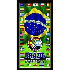 Brazil World Cup Soccer Team Flag Penta Campeon Soccer World Cup 2014 Soccer Wonder Beach Towel