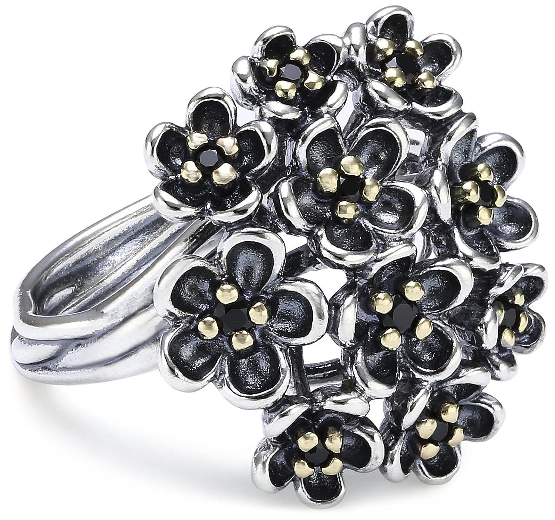 Pandora Damen-Ring 925 Sterling Silber Spinell schwarz 190857SPB jetzt kaufen