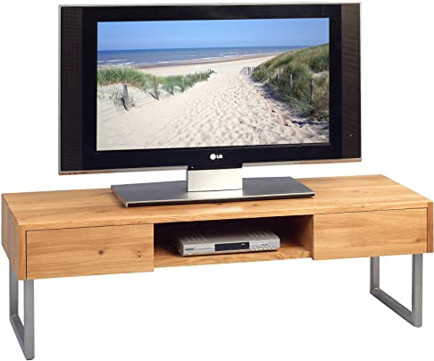HomeTrends4You 353722 Mobiletto per TV, Legno, Rovere, 120 x 40 x 40 cm