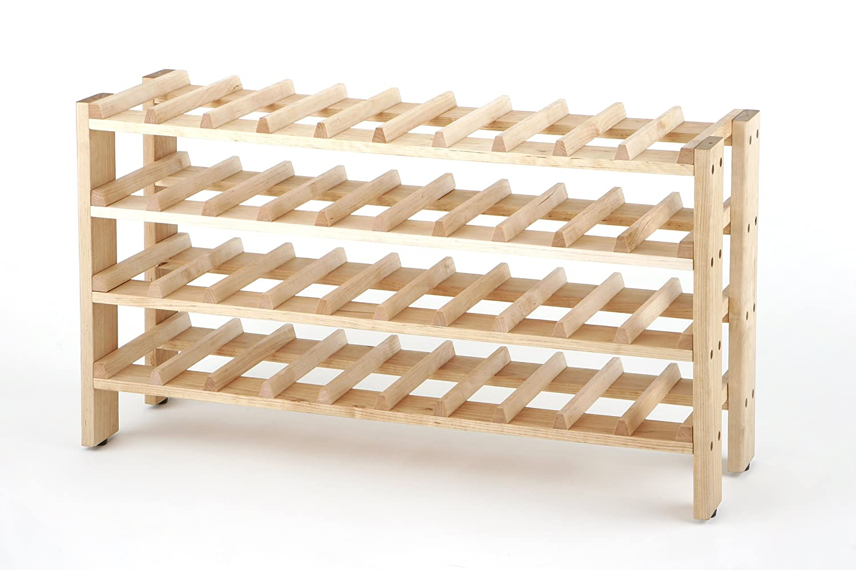 seville classics frn04714 40 bottle birchwood wine rack ebay. Black Bedroom Furniture Sets. Home Design Ideas
