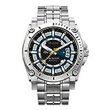 Bulova Men's 96B131 Precisionist Black Dial Steel Bracelet Watch (Color: Silver, Tamaño: Mens standard)