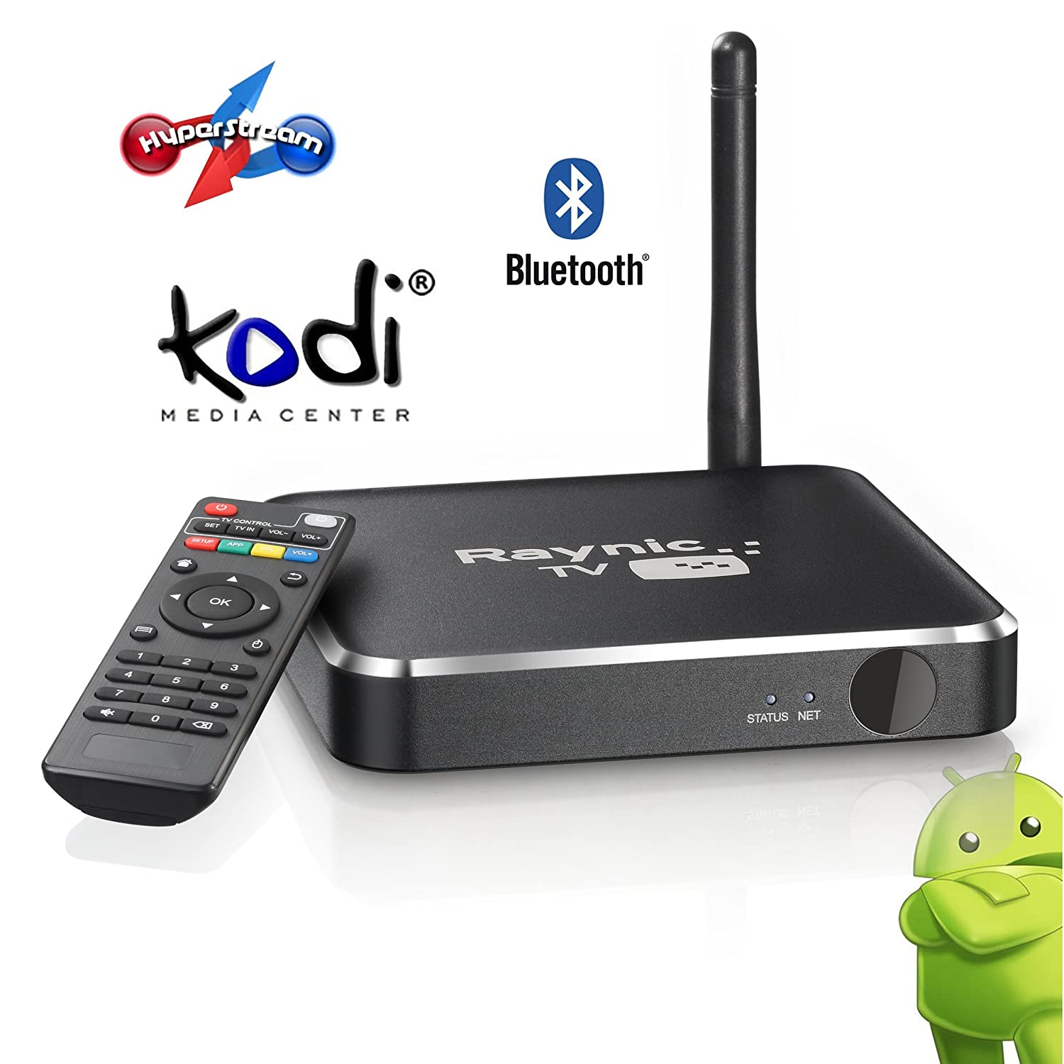 Raynic X Android 4.4 TV BOX Quad-Core Full Loaded Kodi(XBMC) Watch Any TV Programs TV Streaming Player HDMI FULL HD HD 1080P Smart Box