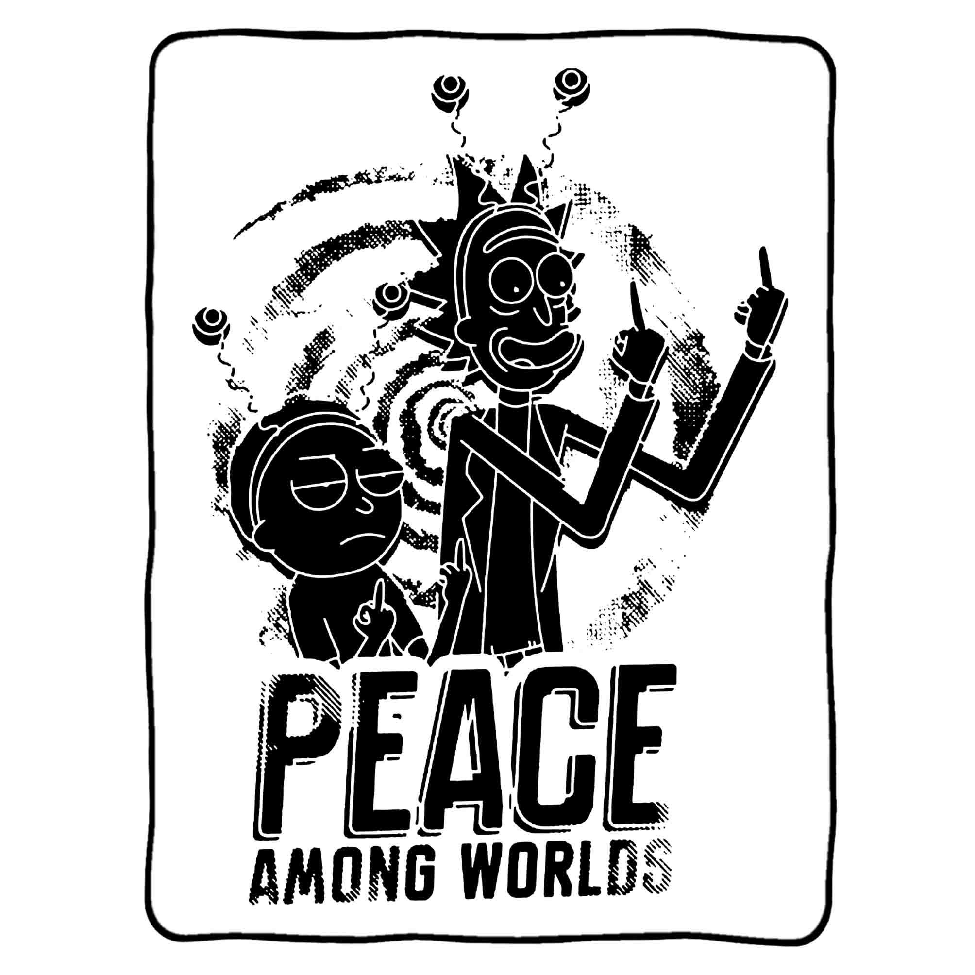 Peace Among Worlds Rick And Morty Blankets