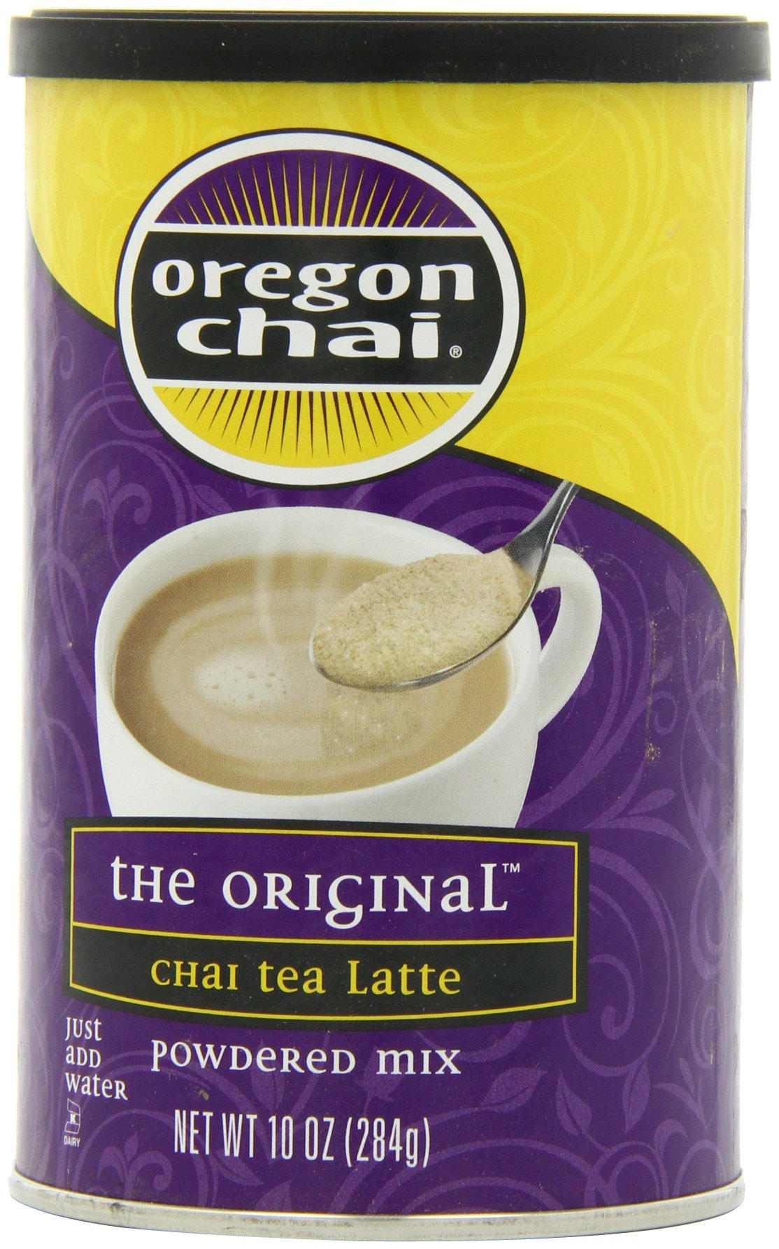 oregon chai original chai tea latte powdered mix 10 ounce containers pack of 6. Black Bedroom Furniture Sets. Home Design Ideas
