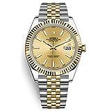 Noob Factory Luxury Swiss Crown Classic TOP Date ETA 3235 Automatic Sapphire Crystal Jubilee bracelet Two Tone Gold Fluted Bezel