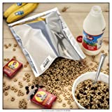 (50) 1-Gallon Genuine Mylar Bag and (60) 300cc Oxygen Absorbers for Long Term Food Storage (Color: Silver, Tamaño: 10 IN)
