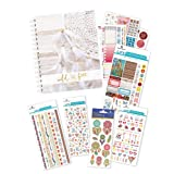 Paper House Productions SET0009 Free Spirit Planner and Accessory Bundle includes 18 Month Undated Planner Laminated Cover, 5 Sticker Styles (Tamaño: Journal Diary with Stickers)
