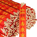 Royal RG1000 Paper Premium Disposable Bamboo Chopsticks, Sleeved and Separated, 1000 Count