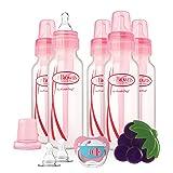 Dr. Brown's Original Bottle Gift Set, 8 Ounce, Pink (Color: Girl, Tamaño: Pink)