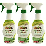 Veggie Wash Organic Fruit and Vegetable Wash, Pack of 3, 16-Fl oz Each (Tamaño: Pack of 3, 16-Ounce Each)