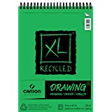 Canson XL Series Recycled Drawing Paper Pad, Top Wire Bound, 70 Pound, 9 x 12 Inch, 60 Sheets (Color: 0, Tamaño: 9