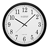 La Crosse Technology WT-3143A-INT 14-Inch Atomic Wall Clock, Black (Color: Black, Tamaño: 2-Pack)