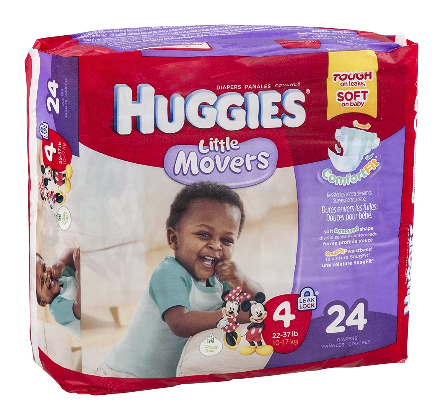 Huggies Diapers Little Movers Disney Size 4 (22-37 lb) 24 CT (Pack of 16)