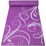 Fit Spirit Premium Printed Yoga Mat Purple Swirl 6mm