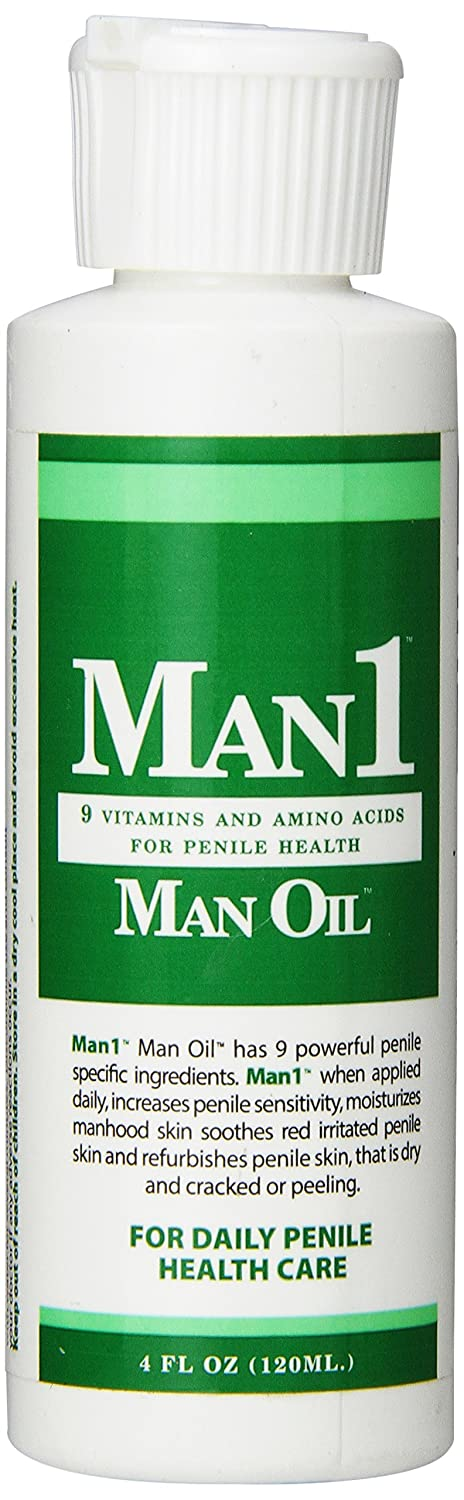 Man1 Man Oil 4 oz.- Natural Penile Health Cream - 3-month Supply - Treat dry, red, cracked or peeling penile skin and increase penile sensitivity usb rechargeble ems skin lifting rejuvenation ultrasonic galvanic ion skin cleaning cleaner scrubber peeling massager machine