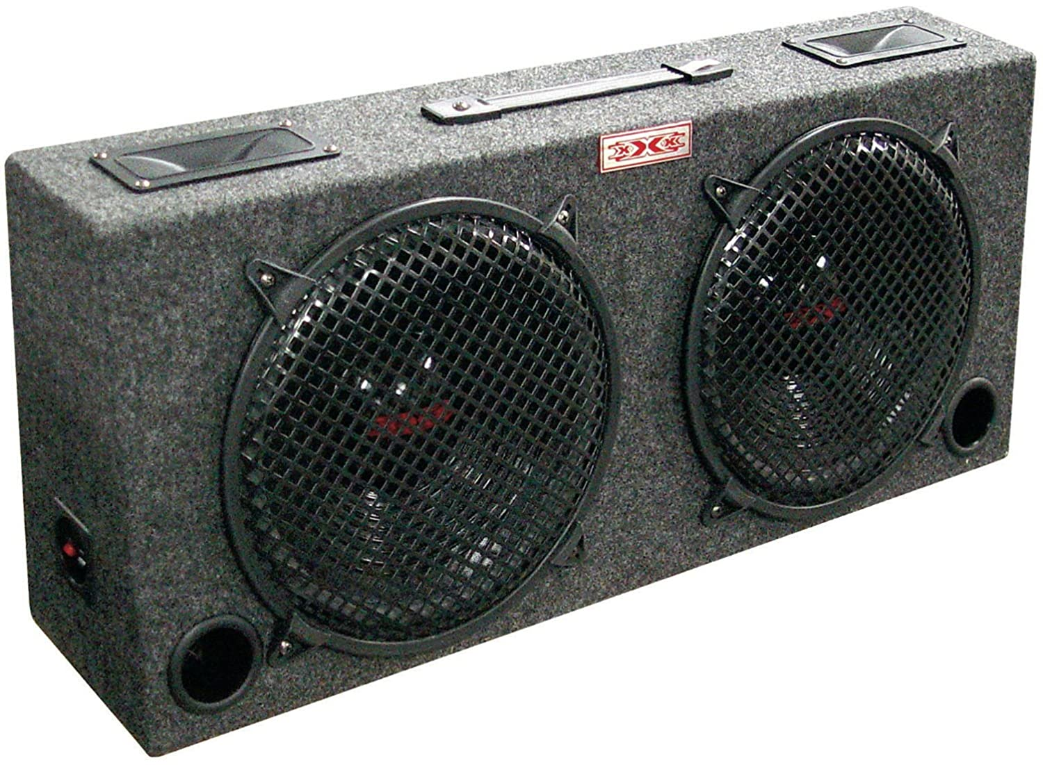 XXX kic120 Xxx kic120 (2) Dual 12 Car Audio Subwoofer Sub Box W/ 5 Tweeters цена и фото