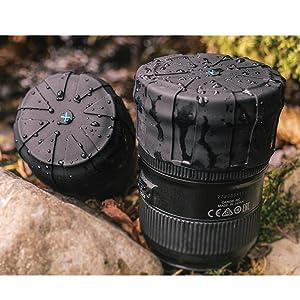 KUVRD - Original Universal Lens Cap - Fits 99% DSLR Lenses, Element Proof, Lifetime Coverage, 10-Pack (Color: Black, Tamaño: 10-Pack)