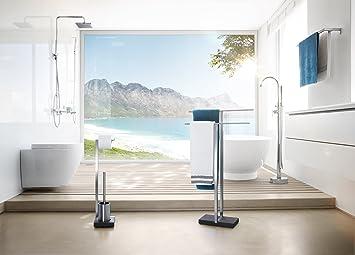 blomus 68624 doppel handtuchst nder menoto edelstahl matt dc177. Black Bedroom Furniture Sets. Home Design Ideas