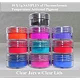UniGlow's Temperature Activated Thermochromic Pigment Powder Which Works Amazingly with Craft Projects and Making Color Changing Slime. (10 X 1g = 10g,Old Packaging | Multi-Color) (Color: *OLD PACKAGING | Multi-Color, Tamaño: 10 X 1g = 10g)