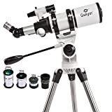 Gskyer 80mm AZ Space Astronomical Refractor Telescope, German Technology Scope, AZ80400, White (Color: White, Tamaño: AZ80400)