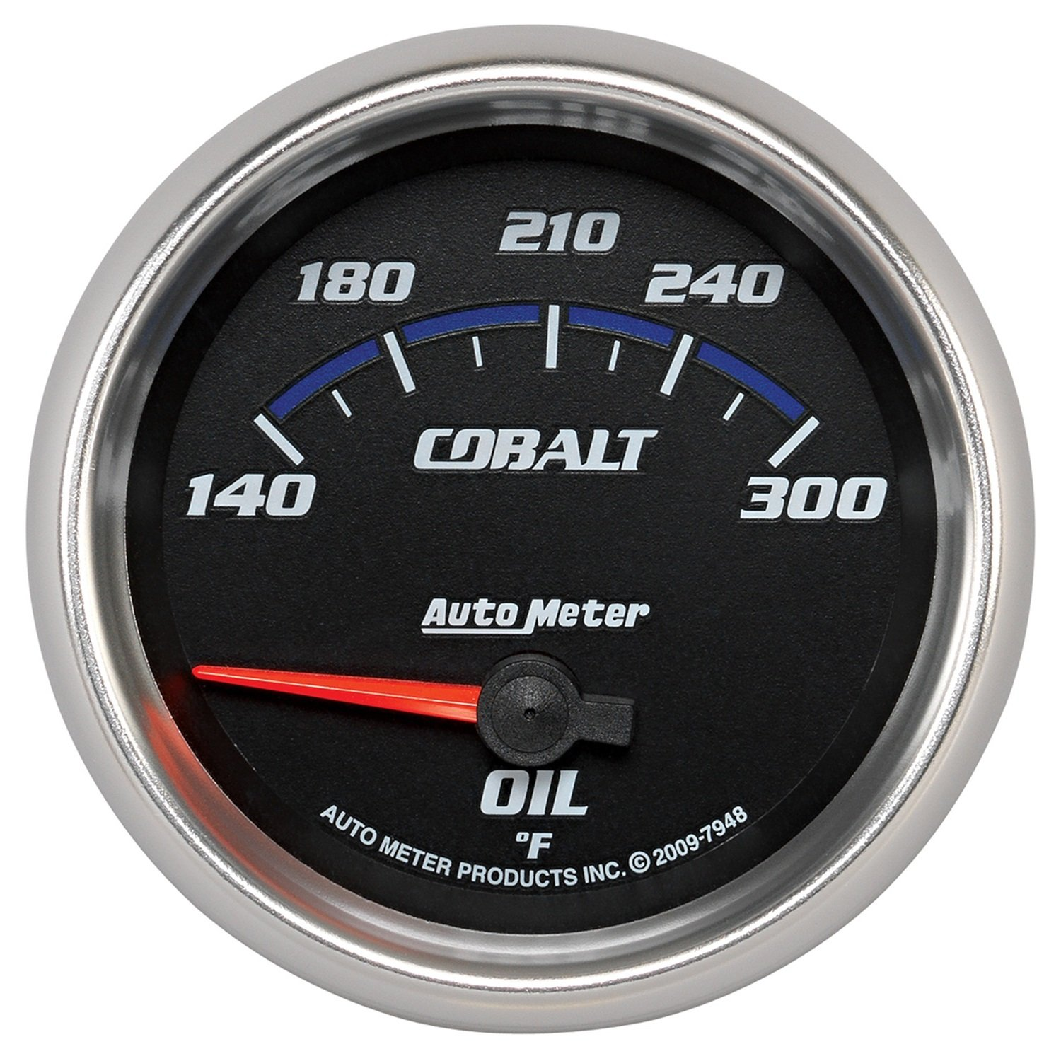 Auto Meter 7948 Cobalt 2-5/8 140-300 Degree F Short Sweep Electric Oil Temperature Gauge