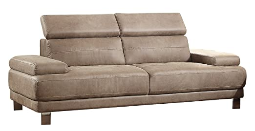 Homelegance 8434-3 Contemporary Structural Style with Adjustable Head Rest Sofa