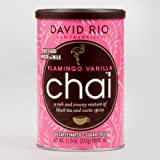 David Rio Flamingo Vanilla Decaf Chai Mix, Set of 6 (11.9 oz)