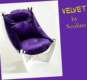 Maroon Samt–NeoLine Liege Sofa Ottomane