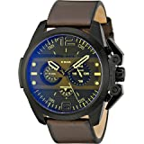 Diesel Men's DZ4364 Ironside Stainless Steel Watch with Leather Band (Color: Green, Tamaño: One Size)