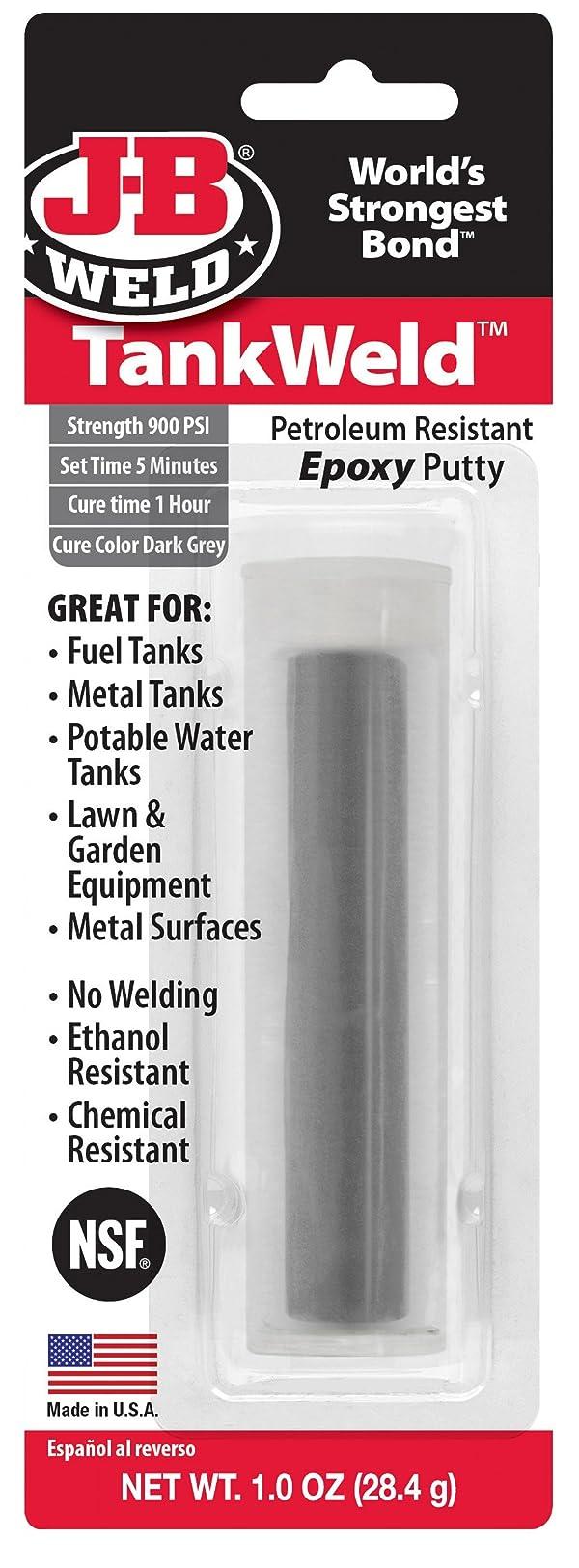 J-B Weld Dark Grey 8217 TankWeld Gas Tank Repair-1 oz, 1. Fluid_Ounces (Color: Dark Grey, Tamaño: 1 Ounce)