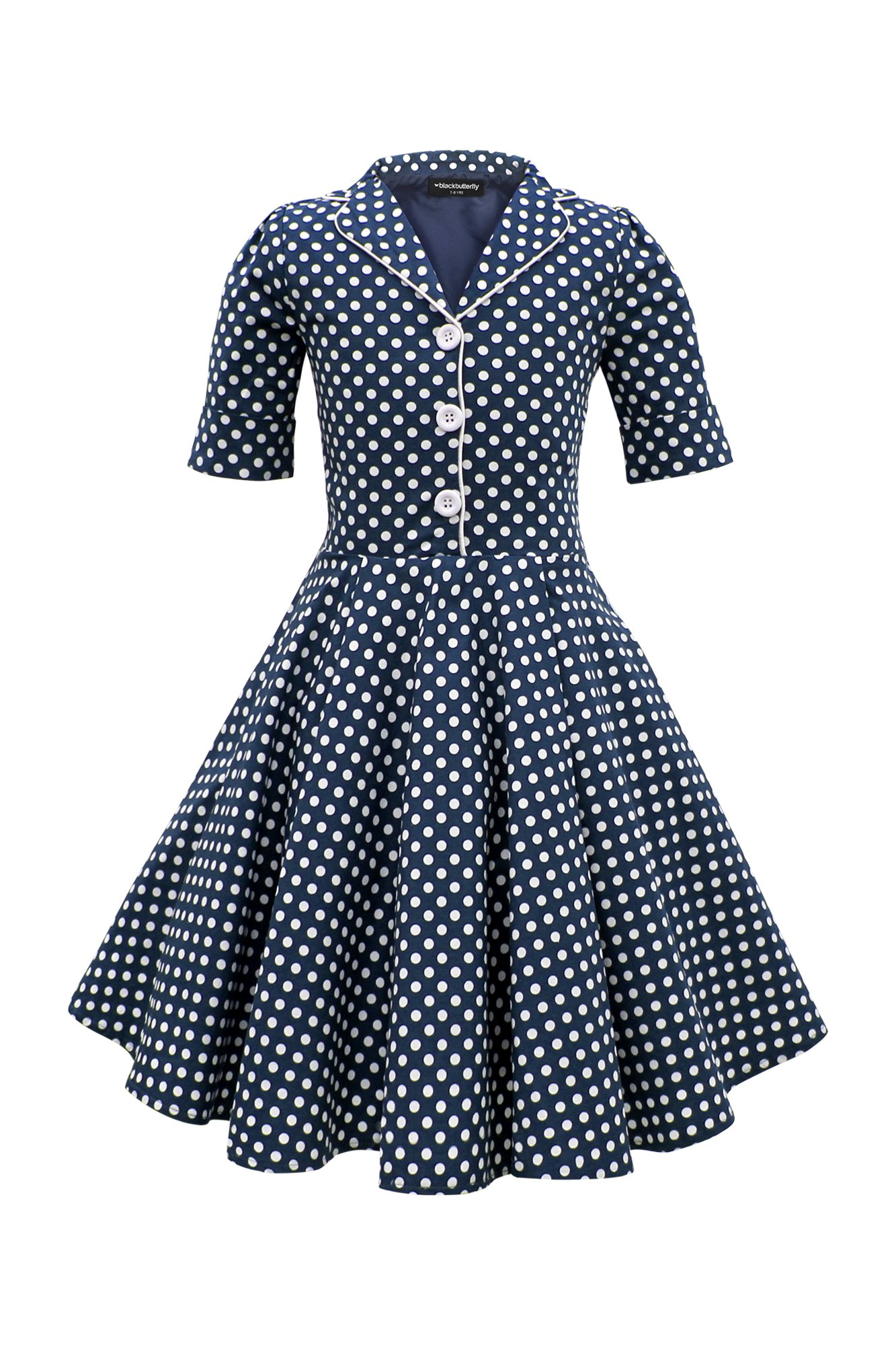 Blackbutterfly Kids Sabrina Vintage Polka Dot 50 S Dress