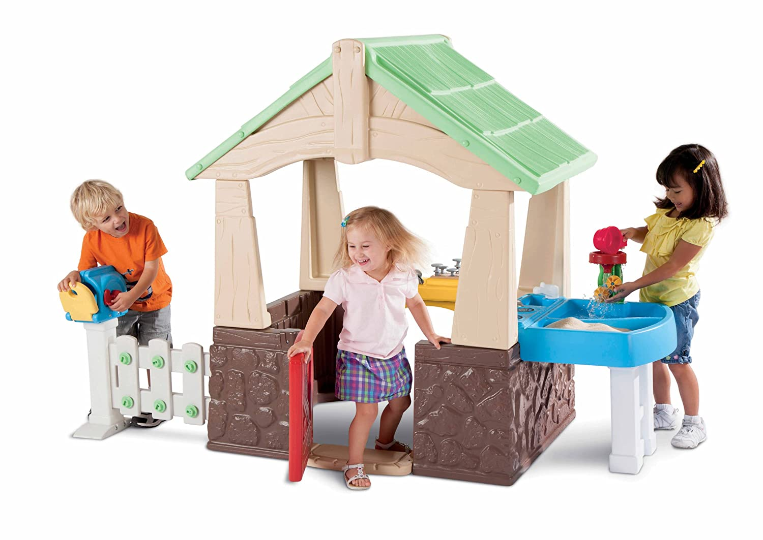 An Image of Little Tikes Deluxe Home and Garden Playhouse