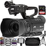 JVC GY-HM180 Ultra HD 4K Camcorder with HD-SDI andSanDisk Extreme PRO 128GB SDXC Memory Card,160 LED Video Light, 72