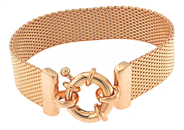 TENDENZE Armband Milanaise 18kt Rotgold Doublé Länge wählbar direkt ab italienischer Fabrik bestellen