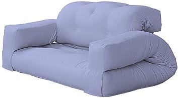 KARUP Kommune Hippo Sofa Sofa divanoletto, Baumwolle/Polyester, Blau Brise 751, 100x 140x 75cm