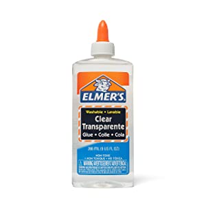 Elmer's Liquid School Glue, Clear, Washable, 9 Ounces, 24 Count - Great for Making Slime (Color: Clear, Tamaño: 9 Oz.)
