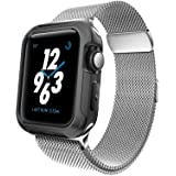 For Apple Watch Band 38mm Milanese Loop Metal Strap for iWatch Bands Silver Color (Color: E-38mm silver)