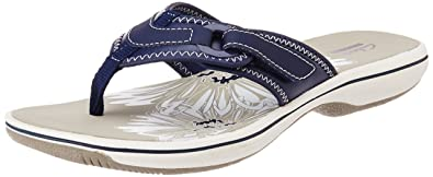 Clarks Women's Navy Flip-Flops and House Slippers - 8 UK at amazon