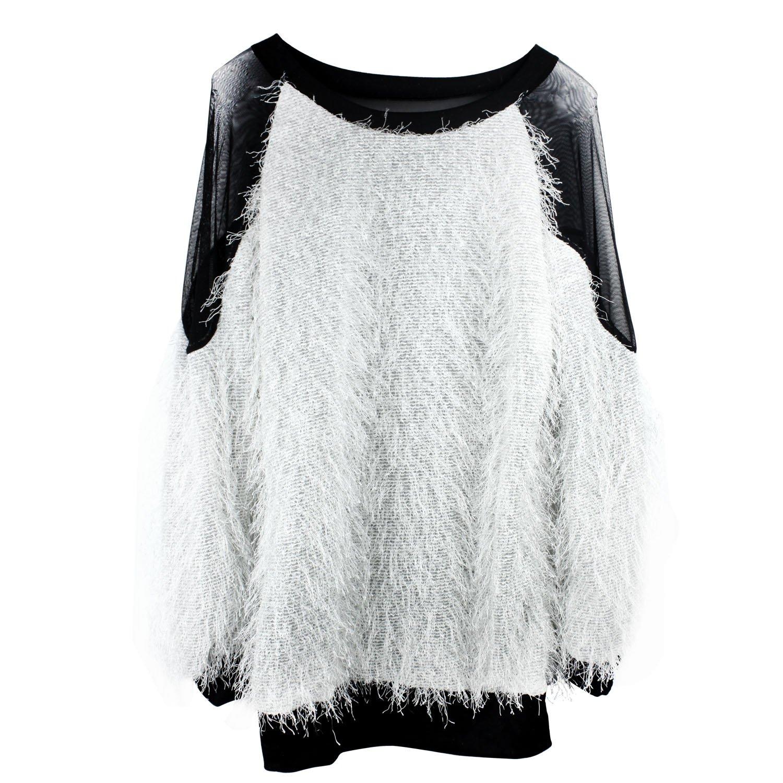 Amazon.co.jp: Womdee 女性セクシーラグラン袖ブラウスメッシュトップス(白い) Womdeeのアクセサリー: 服&ファッション小物