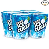 ICE BREAKERS ICE CUBES Chewing Gum, Sugar Free Peppermint, 40 pieces (Pack of 4)