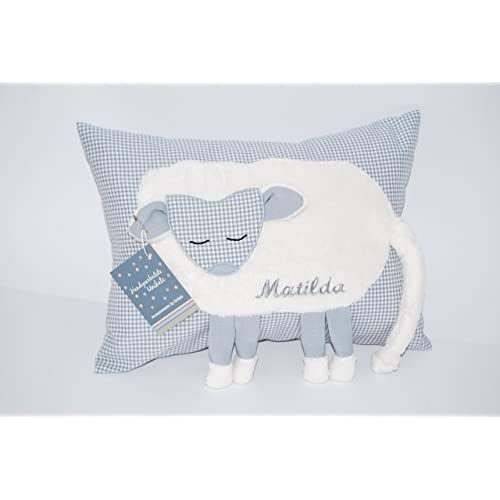 Adorable Baby Pillow grey baby shower baby boy keepsake baby gift