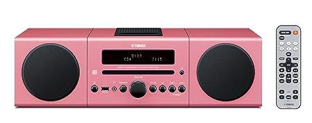Yamaha MCR042PI Chaîne Hifi avec tuner FM pour CD/Ipod/Iphone Rose