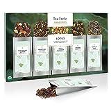 Tea Forté SINGLE STEEPS Lotus Loose Leaf Tea Sampler, Assorted Variety Tea Box, 15 Single Serve Pouches – Black Tea, Green Tea, Oolong Tea, White Tea, Herbal Tea