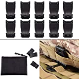 MOLLE Clips Tactical Strap Management Tool Web Dominator Backpack Accessories by BOOSTEADY (Color: Black)